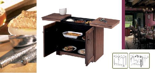 Real Wood Buffet Cart